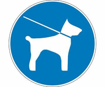 Houdt uw honden aan de lijn en houdt ze buiten de afgehekte gebieden.
